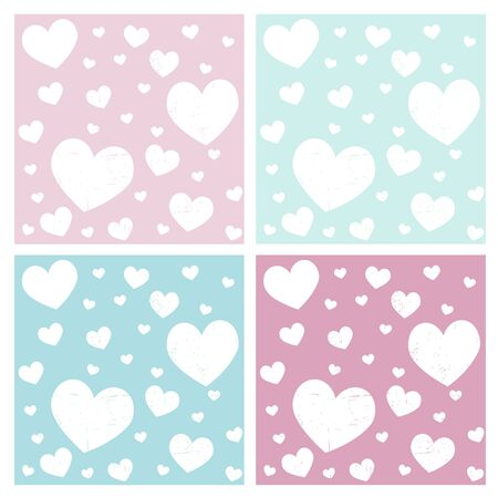 angel girl: valentine hearts pattern background