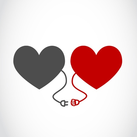 lovers heart concept Vector