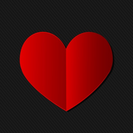 brilliant heart: valentine s day heart card Illustration