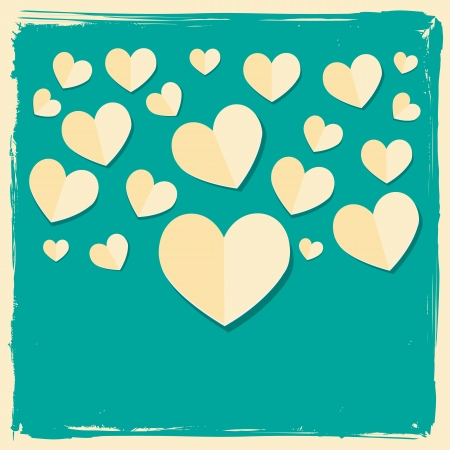 paper hearts concept love card Vector