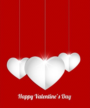 elegant hearts background Stock Vector - 17665704