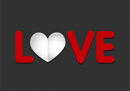 paper love heart Stock Vector - 17665692