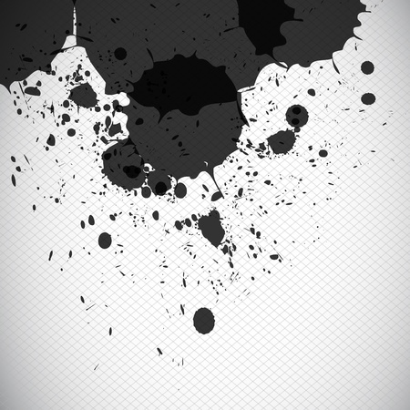 grunge black splash concept Vector