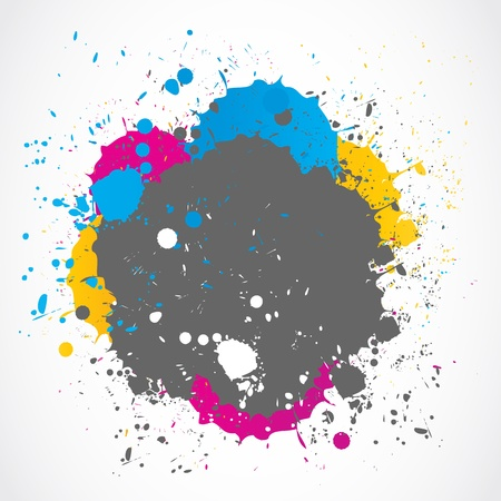 blotch: Colorful paint splash background