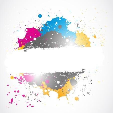 明るいスプラッシュ グランジ デザイン  イラスト・ベクター素材