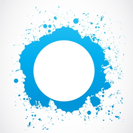 abstract circle splash border Stock Vector - 18135382