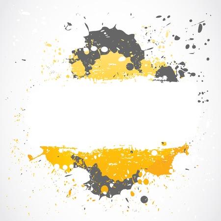 grunge inkblots splash design Illustration