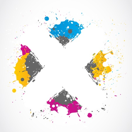 colorful splatter grunge concept Stock Vector - 18135403