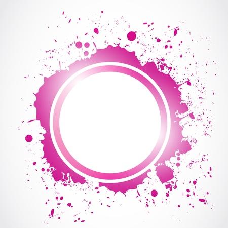 abstract circle grunge splash Vector