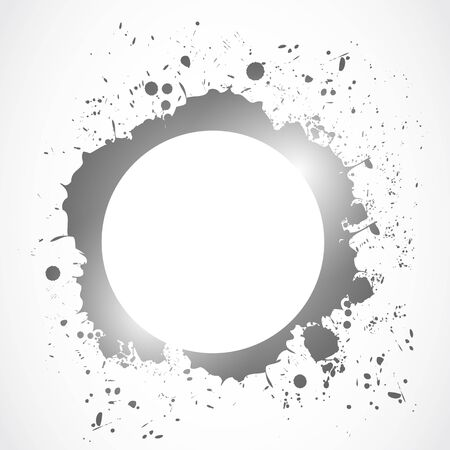 bright ink splash circle design Vector