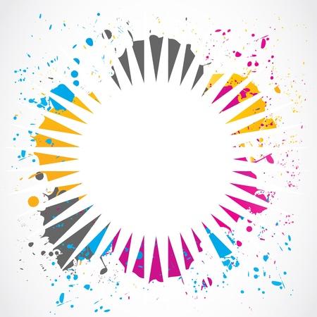 splotches: colorful grunge splash design