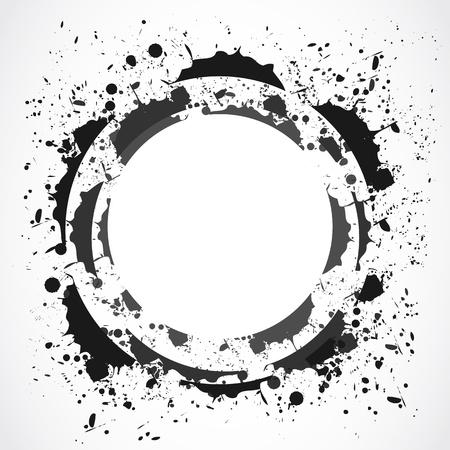 ink splat: dise�o grunge salpicaduras Vectores