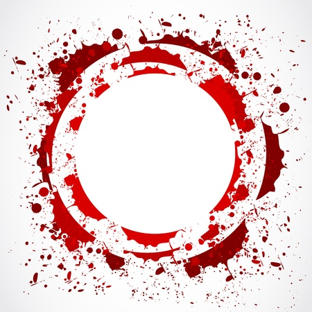 grunge red splash circle Vector