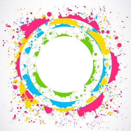 Colorful paint splash Kreis Vektorgrafik