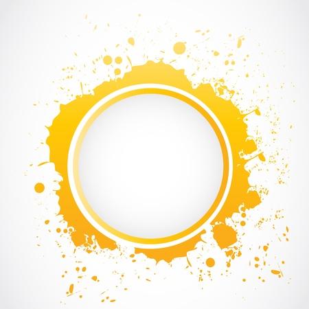 インク汚れスプラッシュ ボタン  イラスト・ベクター素材