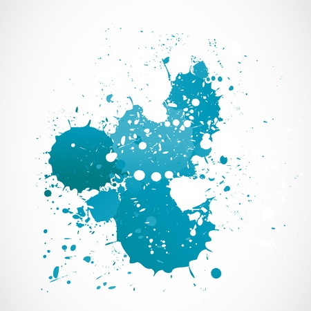 splatters: abstract blue watercolor splash