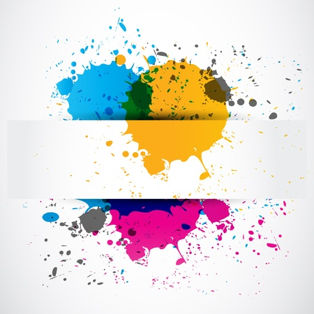 colorful splash grunge paper banner Vector