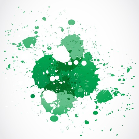 green paint splash design Stock Vector - 18135405