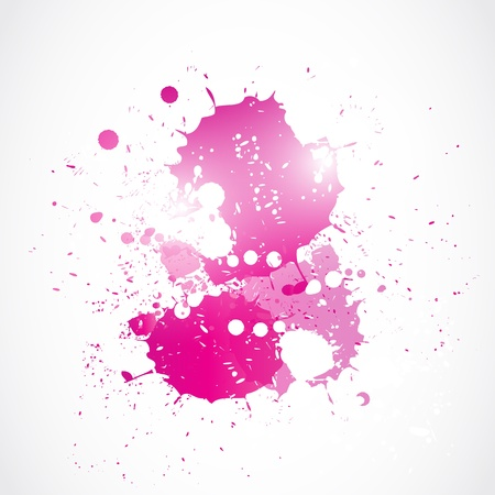 degrade: abstract bright pink watercolor art