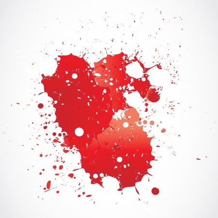 blood paint grunge splashing Stock Vector - 18135394