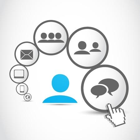 business people communication process Illustration