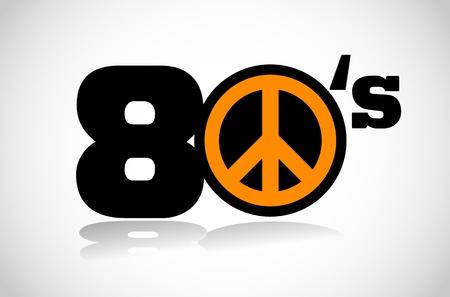 eighties: eighties peace symbol