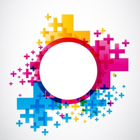 addition symbol: abstract positive futuristic design