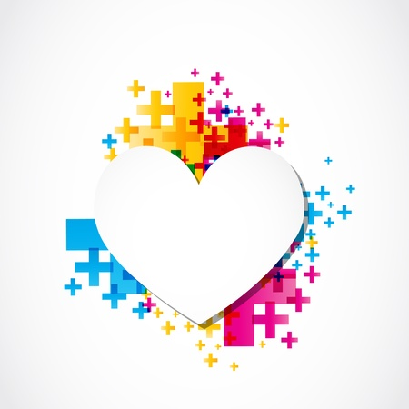 valentine day page heart positive concept Stock Vector - 18150258