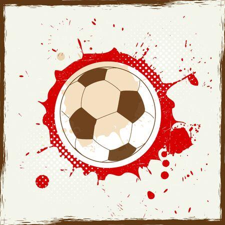 Grunge splash soccer Vector
