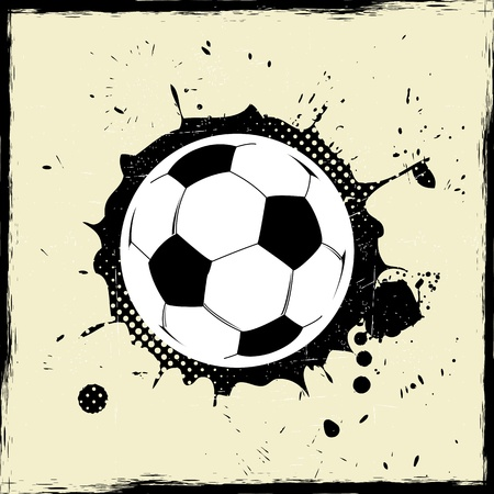 Abstract grunge splash football Vector