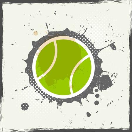 raquet: grunge tennis Illustration