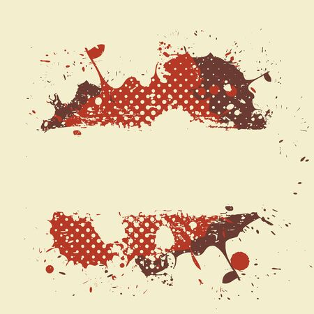 abstract retro grunge splash banner Vector