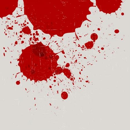 抽象的なビンテージ赤い水彩スプラッシュ