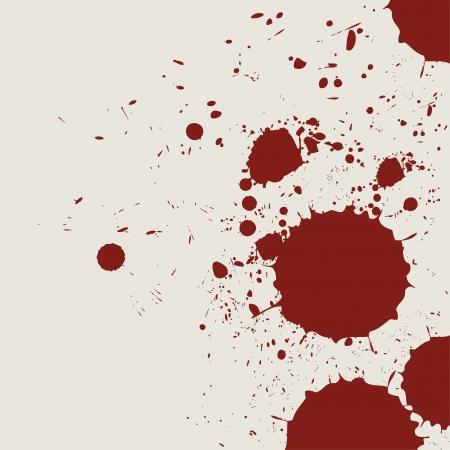 レトロなビンテージ流血グランジ スプラッシュ