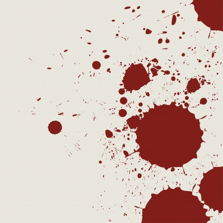 spatter: retro vintage bloody grunge splash Illustration