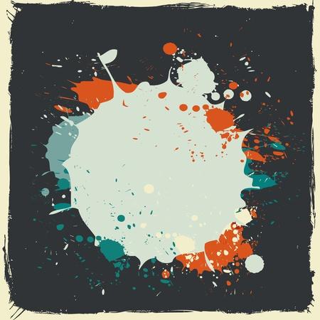colorful grunge splash paint Illustration
