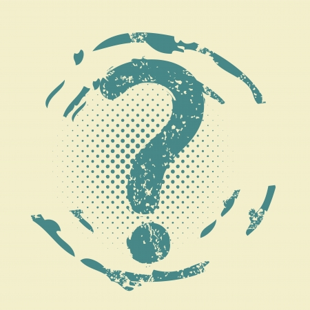 grunge question help sign Stock Vector - 19369912