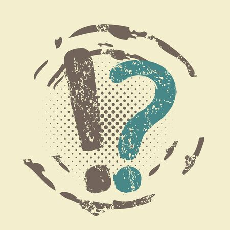 Question and information grunge stamp Vector