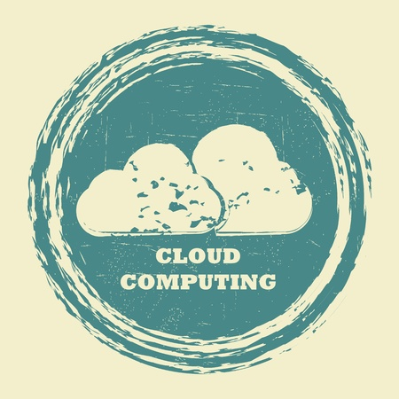 cloud computing communication stamp Vector
