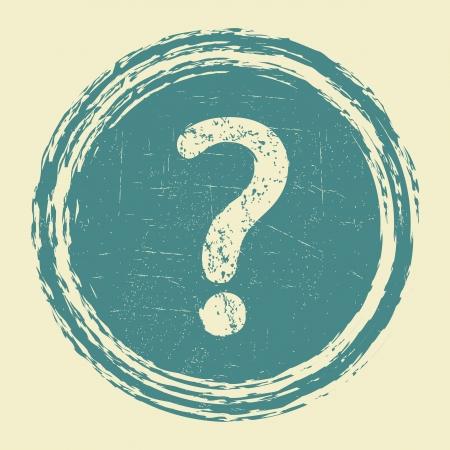 ヘルプ、質問グランジ ステッカー