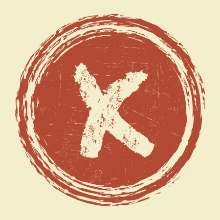 reject: grunge reject cancel sign