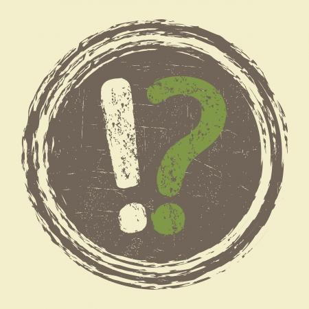 グランジ質問情報サイン  イラスト・ベクター素材
