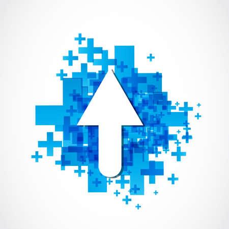 abstract positive arrow icon Stock Vector - 19369995