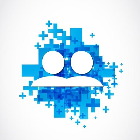 firm: social media positive design Illustration