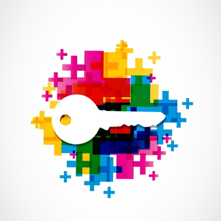 colorful house key background Vector