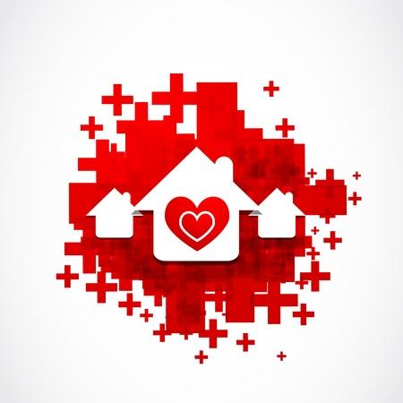 true love: real estate love design illustration Illustration
