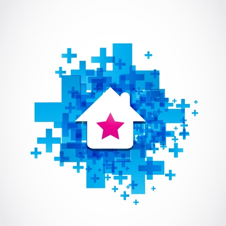 beautiful house icon Stock Vector - 19369971