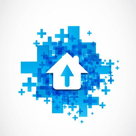 abstract house arrow icon concept Stock Vector - 19370026