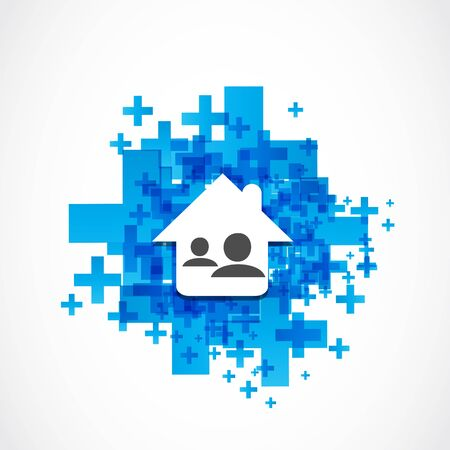 Real estate social network illustration Stock Vector - 19369992