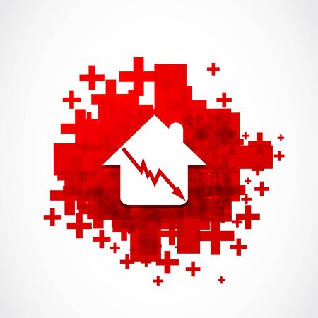 real estate sales crisis risk concept Vector